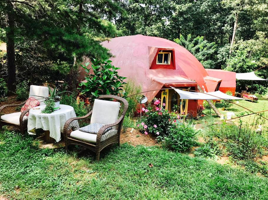 Stay at the Dome Home on Airbnb!